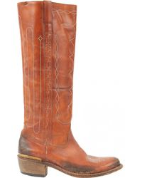 Golden Goose Deluxe Brand - Pre-owned Leather Cowboy Boots - Lyst