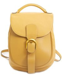 Delvaux Yellow Leather Backpack