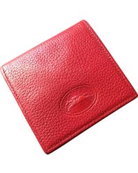 b3756965b1c6 Longchamp - Red Leather Purses, Wallets & Cases - Lyst