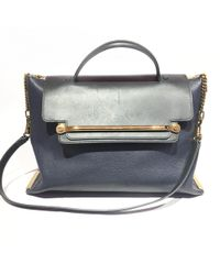 Chloé - Clare Navy Leather Handbag - Lyst