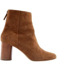 Sandro - Brown Suede Ankle Boot - Lyst