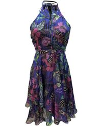 Matthew Williamson Purple Silk Dress