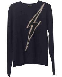 Marc Jacobs - Navy Wool Knitwear & Sweatshirts - Lyst