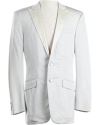 Versace - Grey Viscose Jacket - Lyst