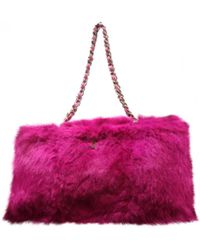 50a05bec4d265c Chanel - Pre-owned Pink Fur Handbags - Lyst