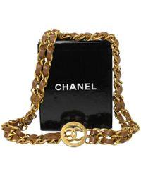 Chanel - Pre-owned Vintage Gold Metal Belts - Lyst