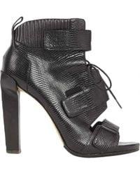 85230265e134 Lyst - Alexander Wang Platform Mid-calf Boots in Black
