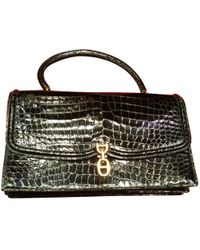 b6eabdd347 Hermès Birkin 35 Crocodile Tote in Black - Lyst