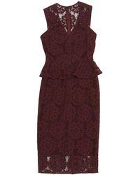 Burberry - Burgundy Cotton Dress - Lyst