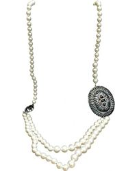 Chanel - Pearl Long Necklace - Lyst