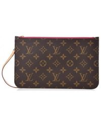 Louis Vuitton - Neverfull Brown Leather - Lyst