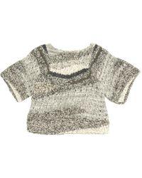 Isabel Marant - Grey Silk Knitwear - Lyst