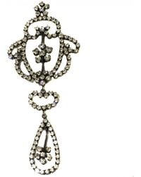 Dior - Vintage Anthracite Metal Pins & Brooches - Lyst