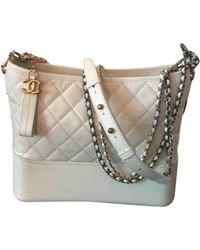 583d63397856a9 Lyst - Chanel Gabrielle Metallic Leather Handbag in Metallic