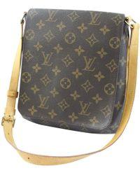 Louis Vuitton - Vintage Salsa Brown Cloth Handbag - Lyst