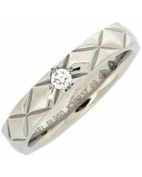 Chanel - Matelassé Platinum Ring - Lyst