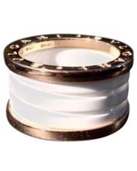 bvlgari bzero1 pink gold ring lyst