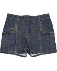 Louis Vuitton - Blue Cotton Shorts - Lyst