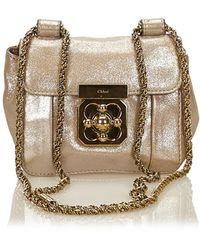 3774b24d0f9 Chloé Mini Elsie Shoulder Bag in Pink - Lyst