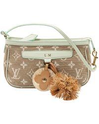Louis Vuitton - Beige Cloth Clutch Bag - Lyst