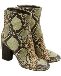 Isabel Marant - Pre-owned Leather Ankle Boots - Lyst