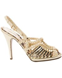 Roberto Cavalli - Pre-owned Leather Sandals - Lyst
