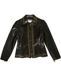 Moschino - Vintage Black Polyester Jacket - Lyst