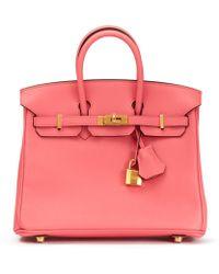 Hermès - Pre-owned Birkin 25 Leather Handbag - Lyst