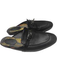 Hermès - Black Leather Flats - Lyst