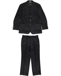Versace - Pre-owned Vintage Black Wool Suits - Lyst