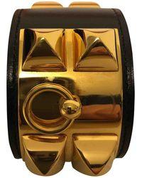 Hermès - Collier De Chien Black Leather - Lyst