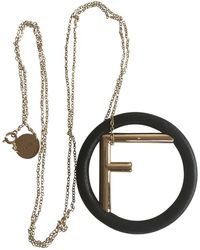 Fendi - Pre-owned Gold Leather Long Necklaces - Lyst