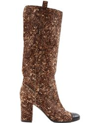 Chanel - Pony-style Calfskin Boots - Lyst