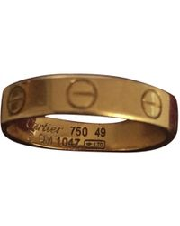 Cartier - Love Yellow Gold Ring - Lyst