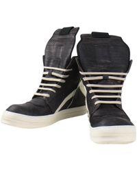 Rick Owens - Leder Sneakers - Lyst