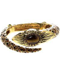 Roberto Cavalli - Gold Gold And Steel Bracelets - Lyst