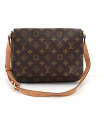 Louis Vuitton - Vintage Musette Tango Brown Cloth Handbag - Lyst 765aeaadf7a65