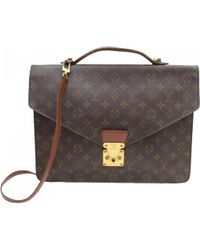 Louis Vuitton - Pre-owned Brown Cloth Handbags - Lyst