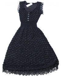 Chanel - Silk Mid-length Dress - Lyst