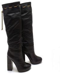 Lanvin - Black Leather Boots - Lyst