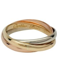 Cartier - Vintage Trinity Other Yellow Gold Ring - Lyst