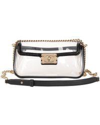 55f1f0940247 Chanel Rare Vintage Plastic 2.55 Classic Flap Bag in Black - Lyst