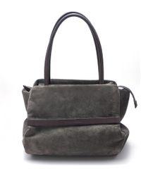 Brunello Cucinelli - Gray Suede Handbag - Lyst