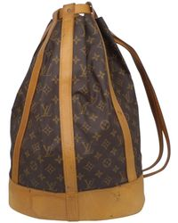 Louis Vuitton - Pre-owned Vintage Randonnée Brown Cloth Backpacks - Lyst