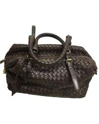 Bottega Veneta Sac à main en Cuir Marron - Noir