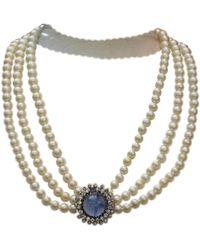 Dior - Vintage Other Metal Necklace - Lyst