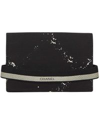 Chanel - Vintage Black Synthetic Purses, Wallets & Cases - Lyst
