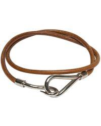 Hermès - Jumbo Leather Bracelet - Lyst