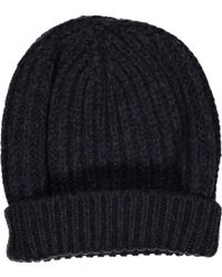Lanvin - Navy Wool Hats & Pull On Hats - Lyst