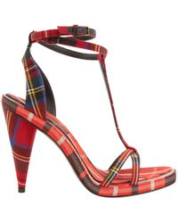 Burberry - Red Cloth Heels - Lyst